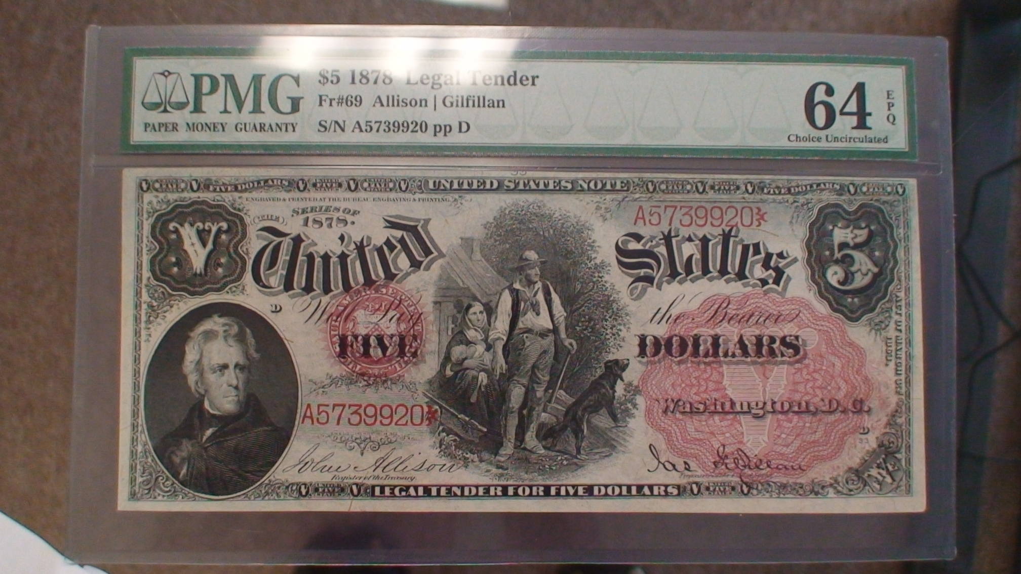 1875 US Note