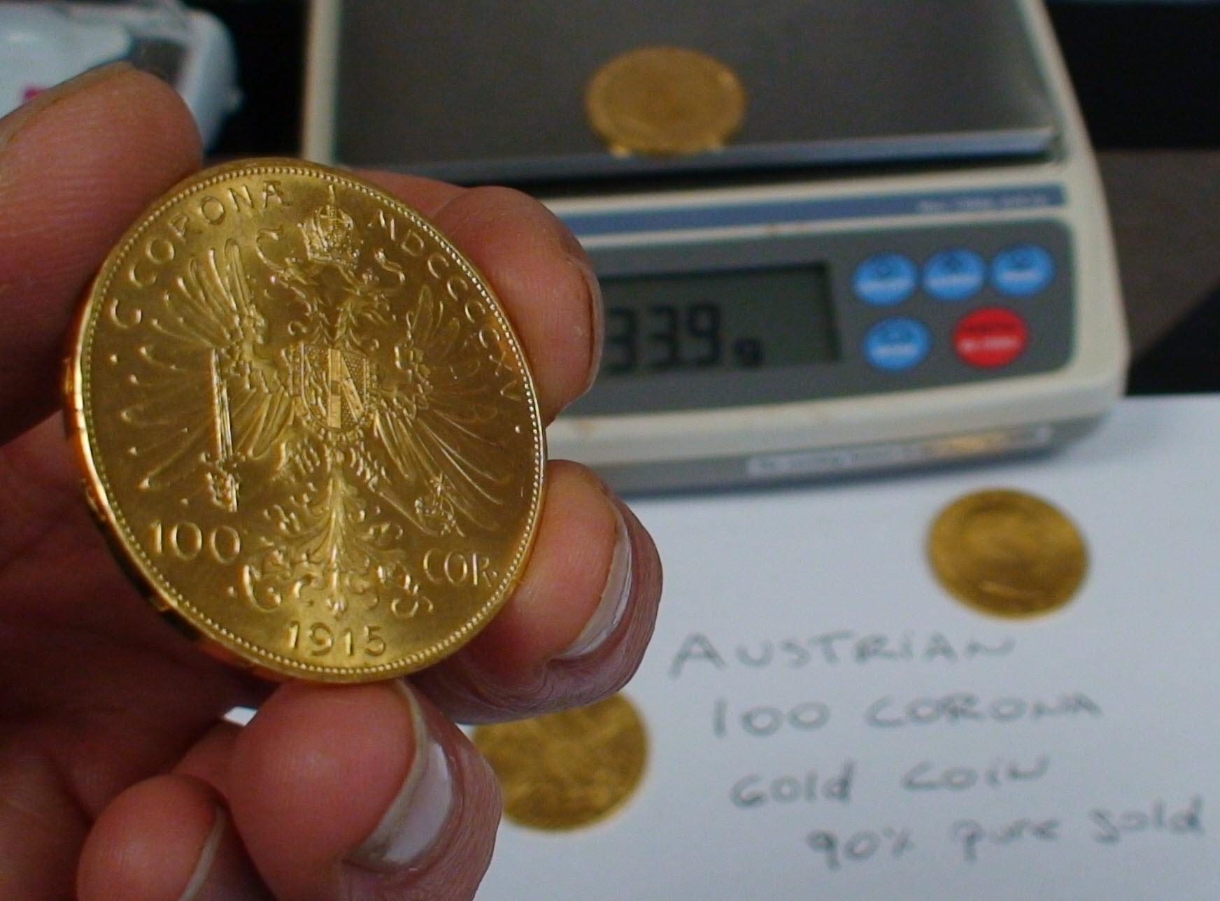 100 Corona Gold Coin