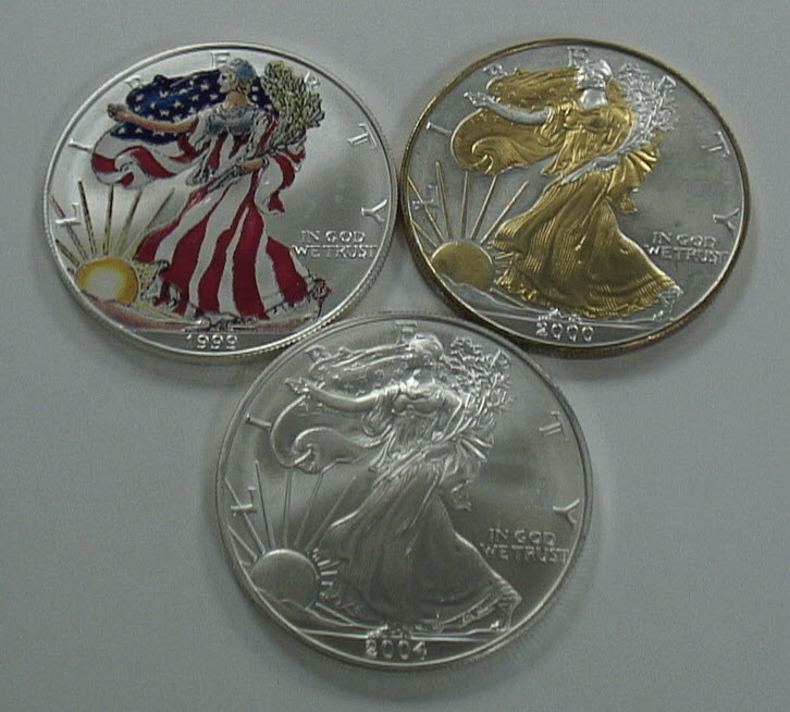 Colored American Eagle Coins