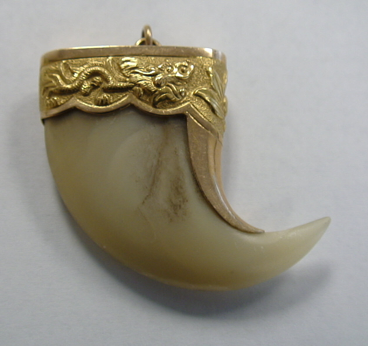 18K Gold Tiger Claw Pendant