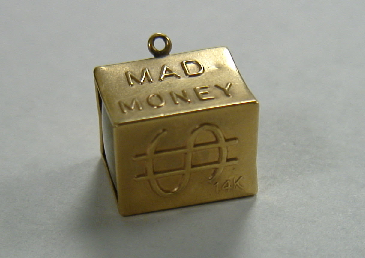 Gold Dice Charm
