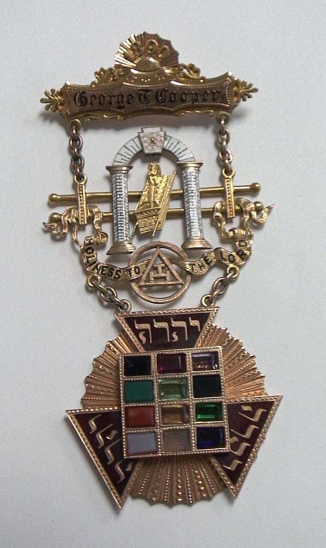Mason High Master Pries Gold Emblem 1