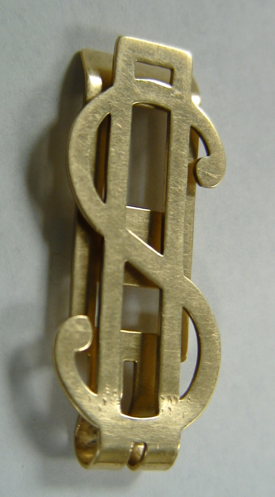 Gold Dollar Money Clip