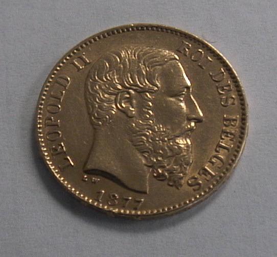 20 Frank Belgium Gold Coin Obverse