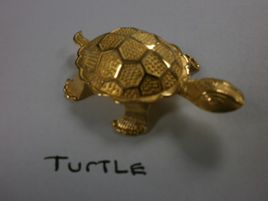 Korean 24K Gold Hollow Turtle Shape Bullion