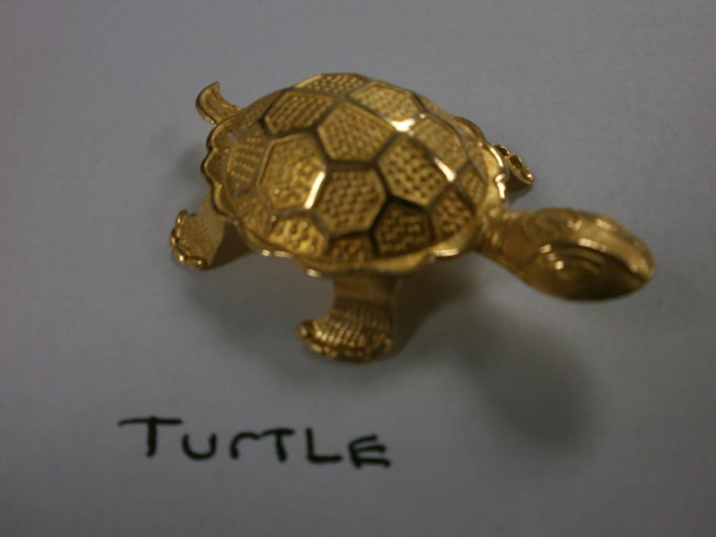 Korean 24K Gold Hollow Turtle Shape Bullion