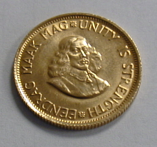 South African Gold Rand Coin Obverse