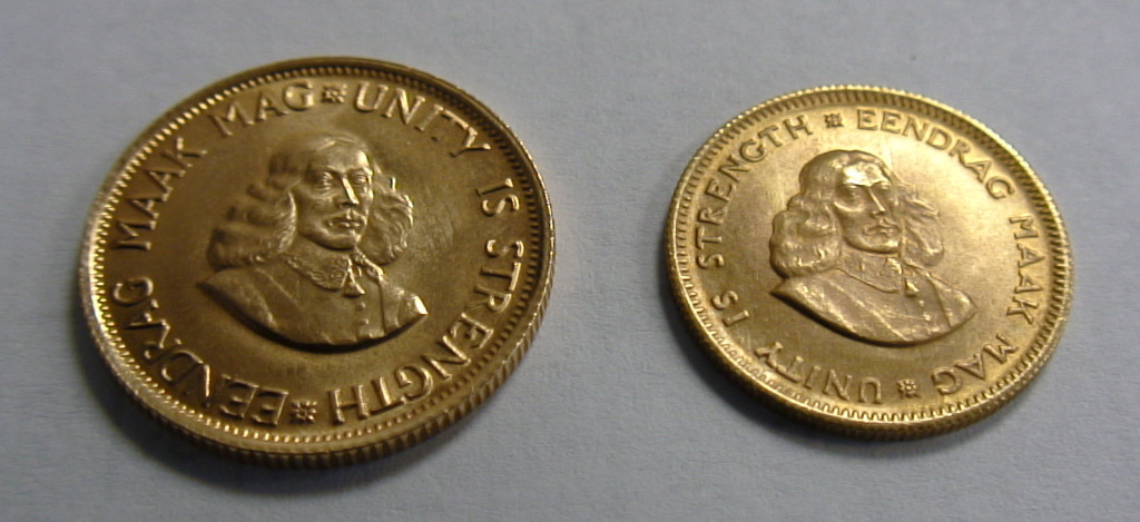 South African Rand Gold Coins Obverse