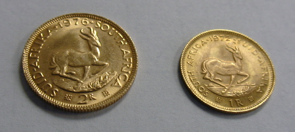 South African Rand Gold Coins Reverse