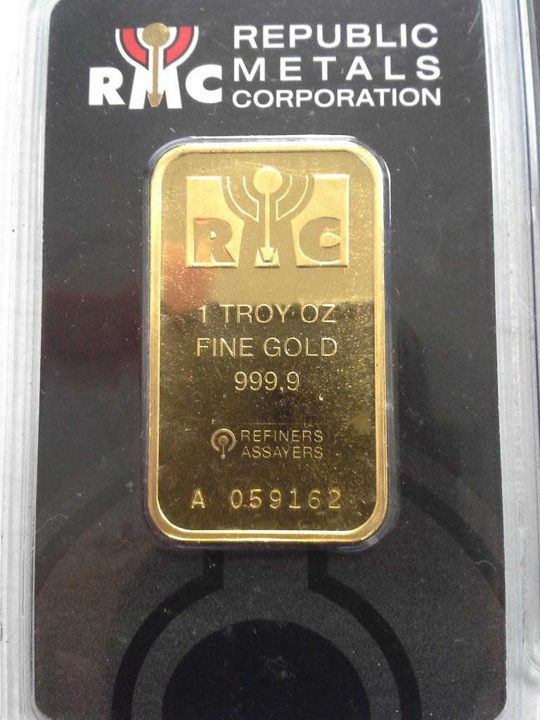 Republic Metals Corp (RMC) Gold Bar Obverse
