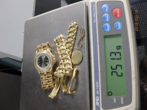 Scrapped 18K Gold Watch