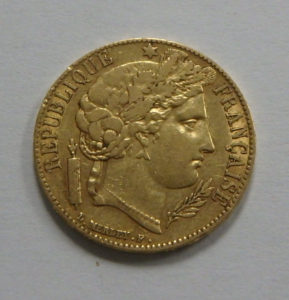 French 20 Franc Gold Coin Napoleon III