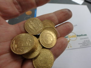 French 20 Franc Gold Coin Lucky Angel