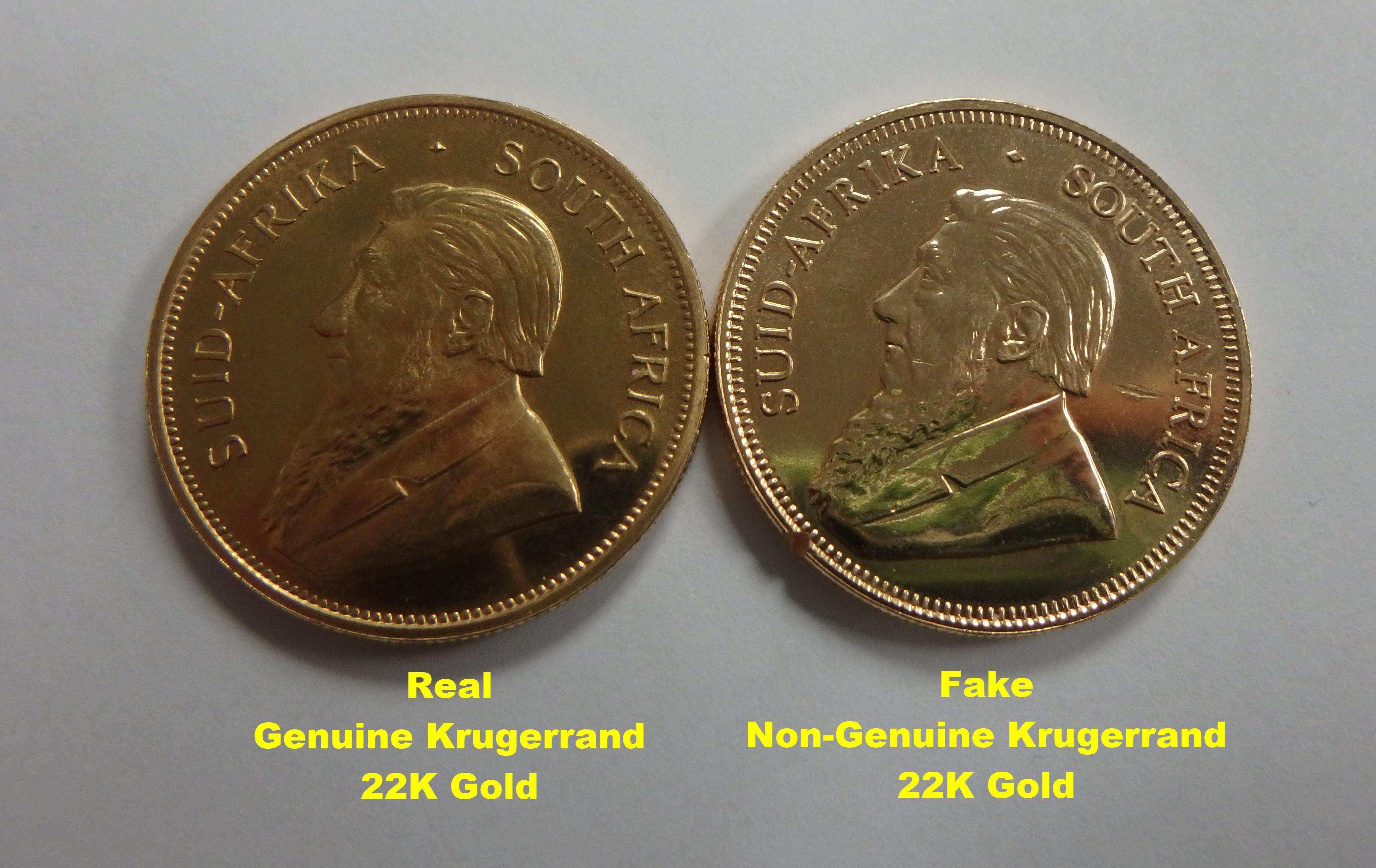 Real Gold Non-Genuine Krugerrand | Portland Gold Buyers, LLC