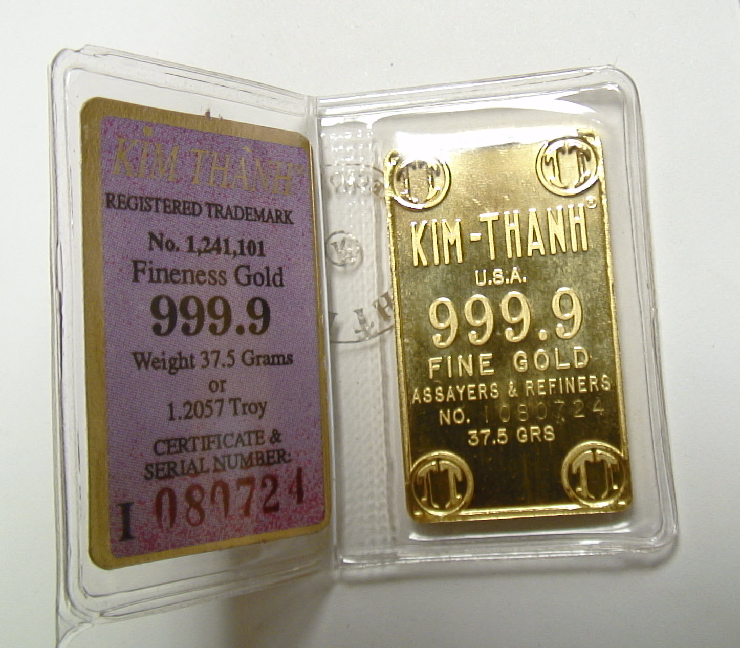 24K Gold Tael Bar