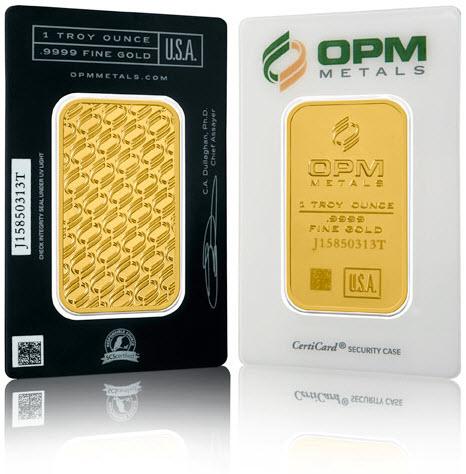 OPM 1ozt Gold Bar